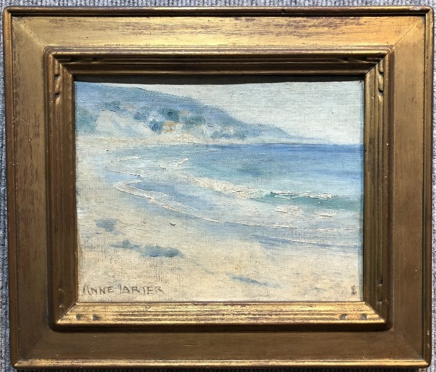 Painting of beach by Anne Larter, c.1900