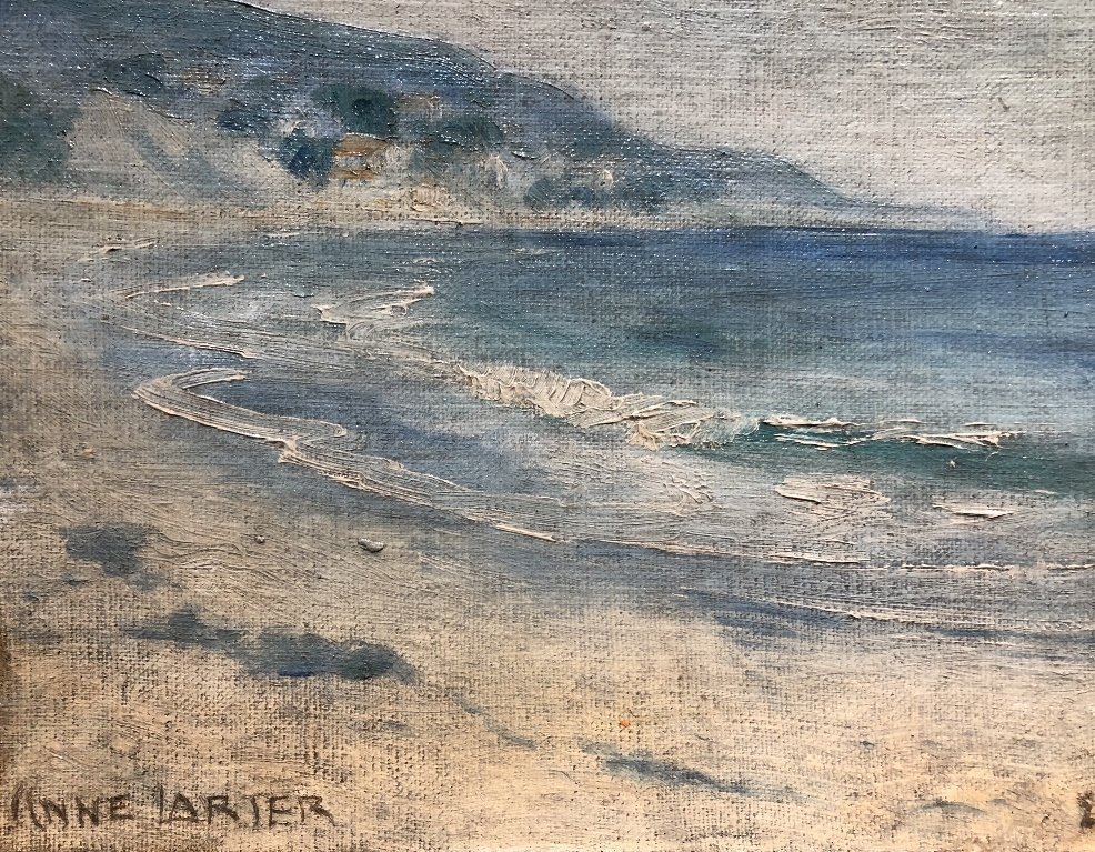 Painting of beach by Anne Larter, c.1900 - 3