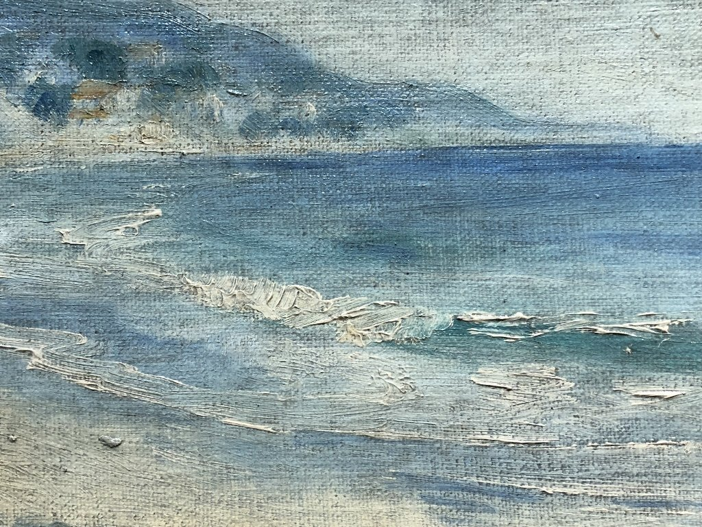 Painting of beach by Anne Larter, c.1900 - 4