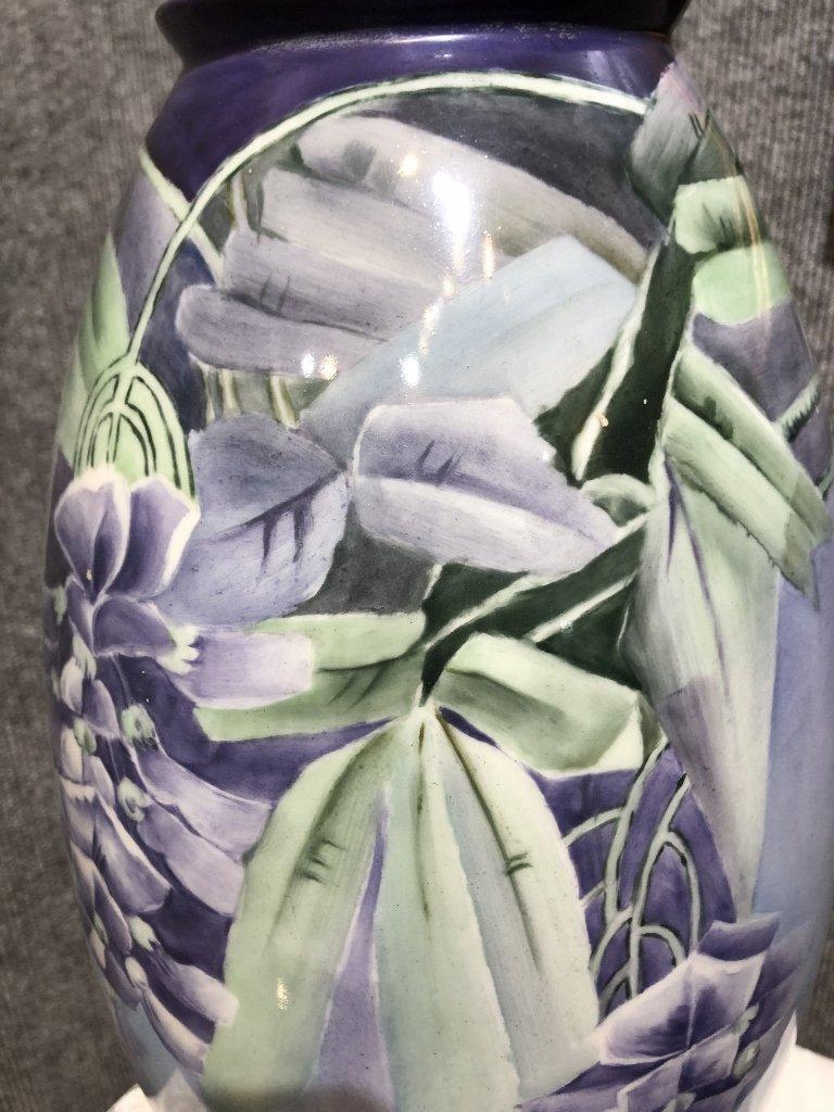 Belleek painted vase, c.1900 - 2