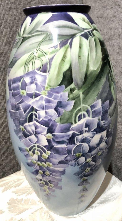 Belleek painted vase, c.1900 - 3