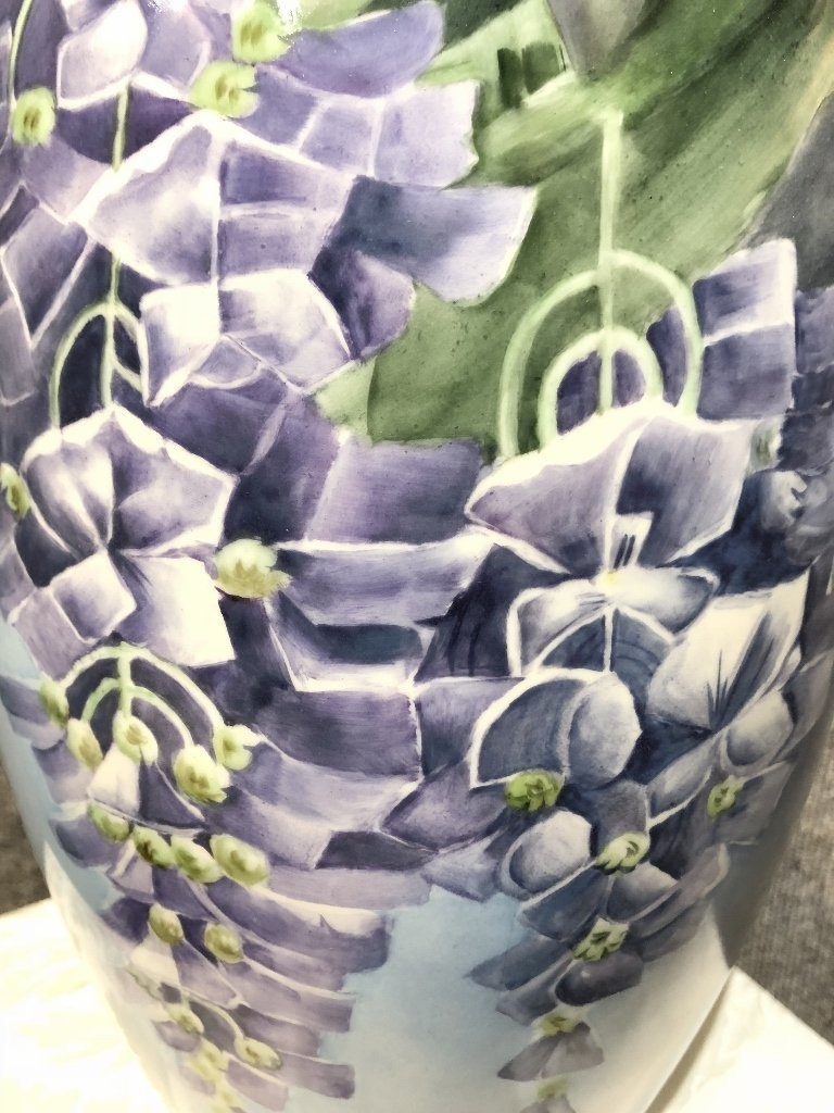 Belleek painted vase, c.1900 - 4