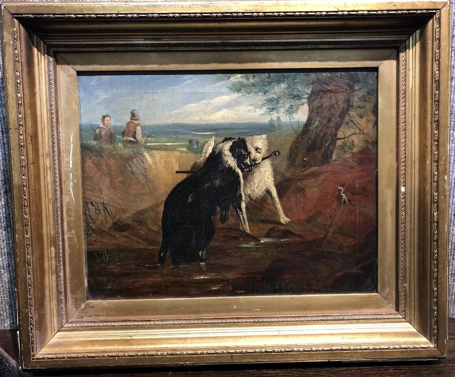 Painting of dogs by Samuel Henry Alken