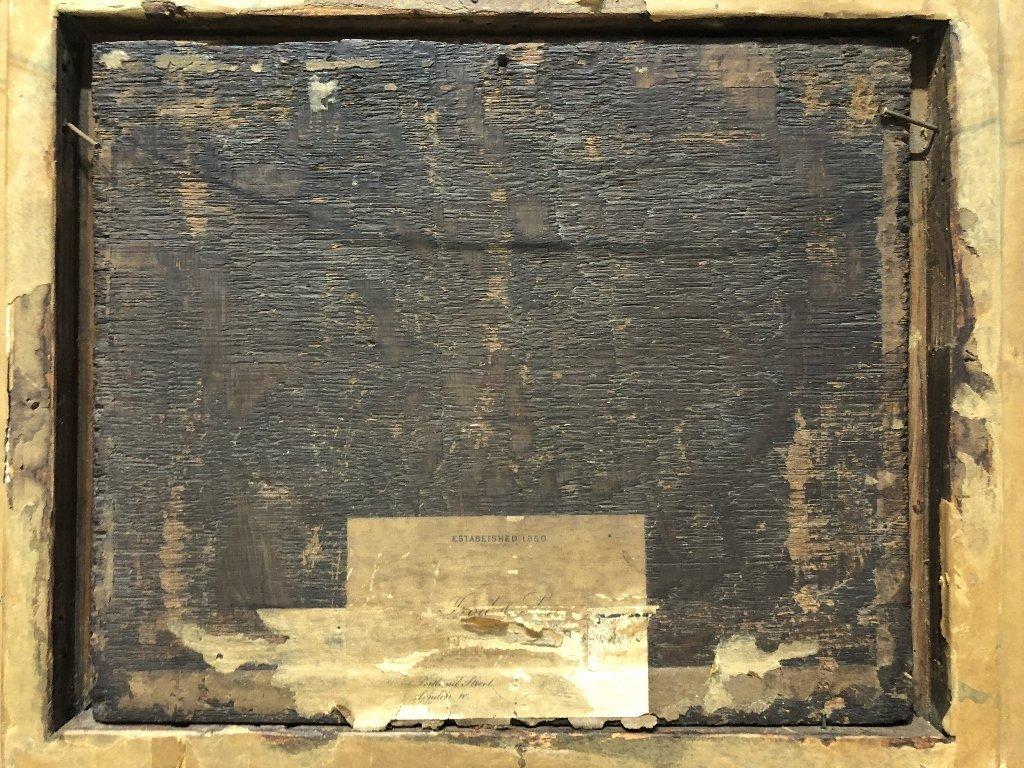 Ptg of tavern interior, with DT monogram, 19thc - 5