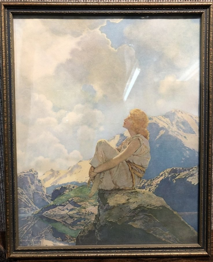 "Maxfield Parrish print, ""Morning"", 1922"