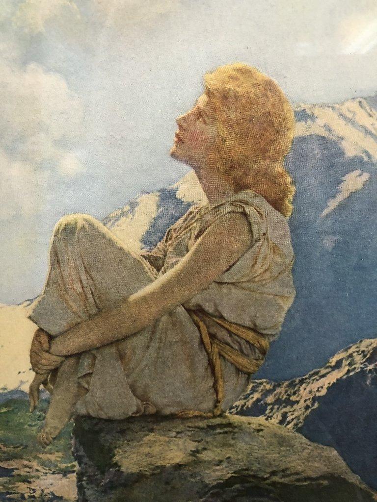 "Maxfield Parrish print, ""Morning"", 1922 - 2"