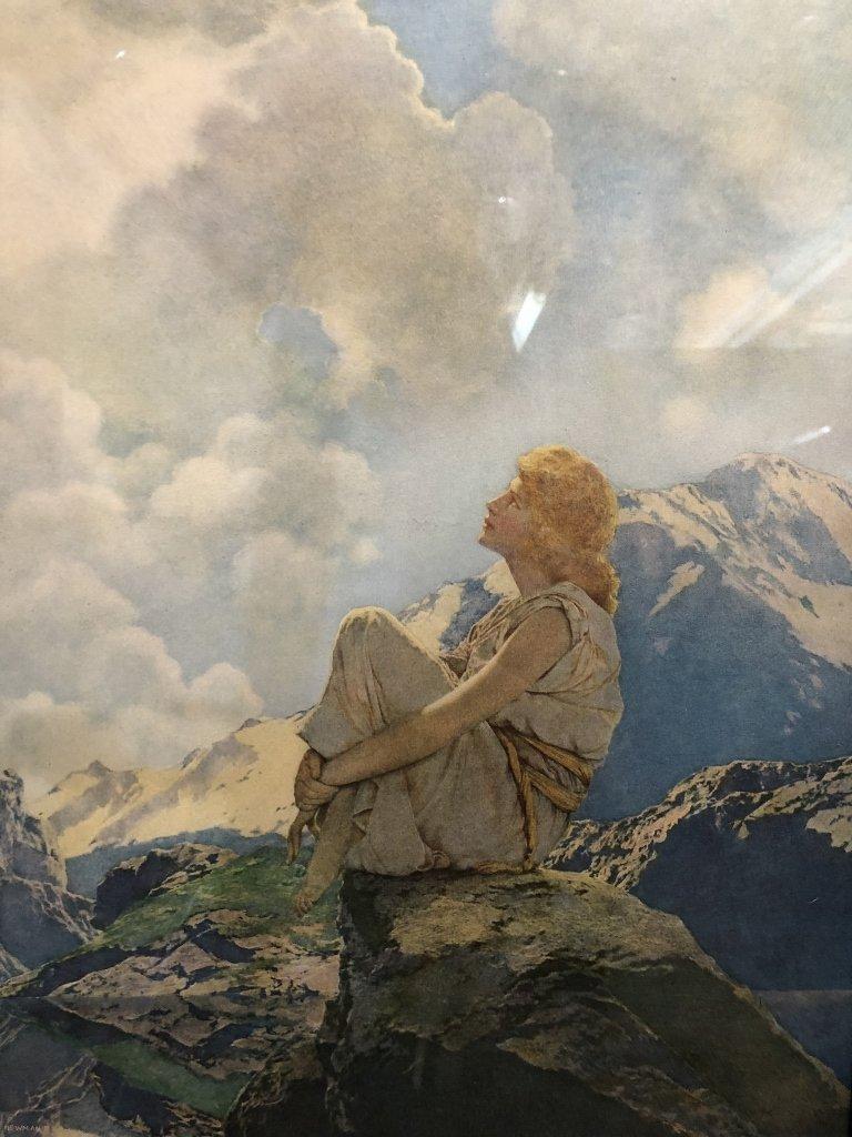 "Maxfield Parrish print, ""Morning"", 1922 - 6"