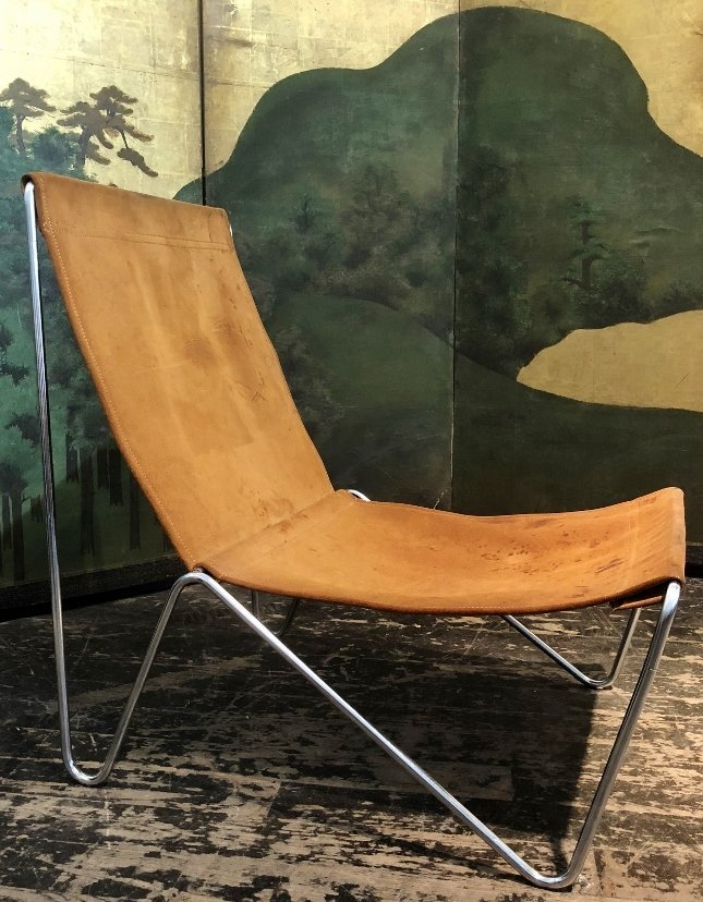 Modern suede and chrome chair