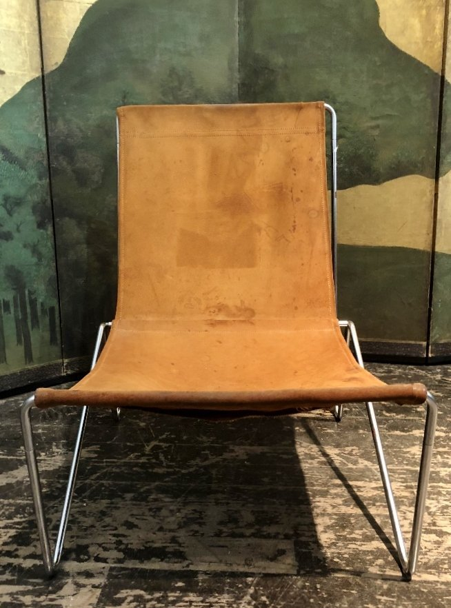 Modern suede and chrome chair - 2