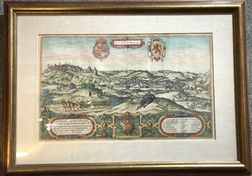 16th century map of Limburg by Georg Braun
