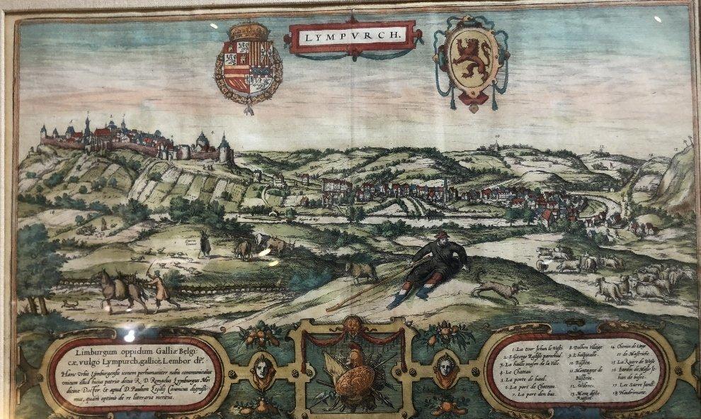 16th century map of Limburg by Georg Braun - 2
