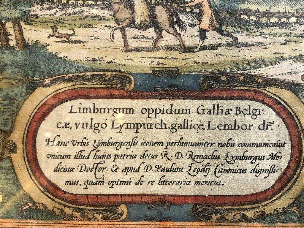 16th century map of Limburg by Georg Braun - 3