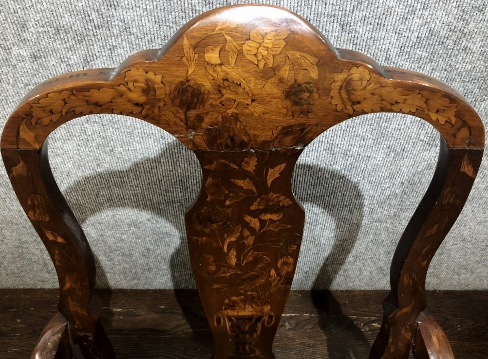Dutch marquetry armchair, c.1900 - 3