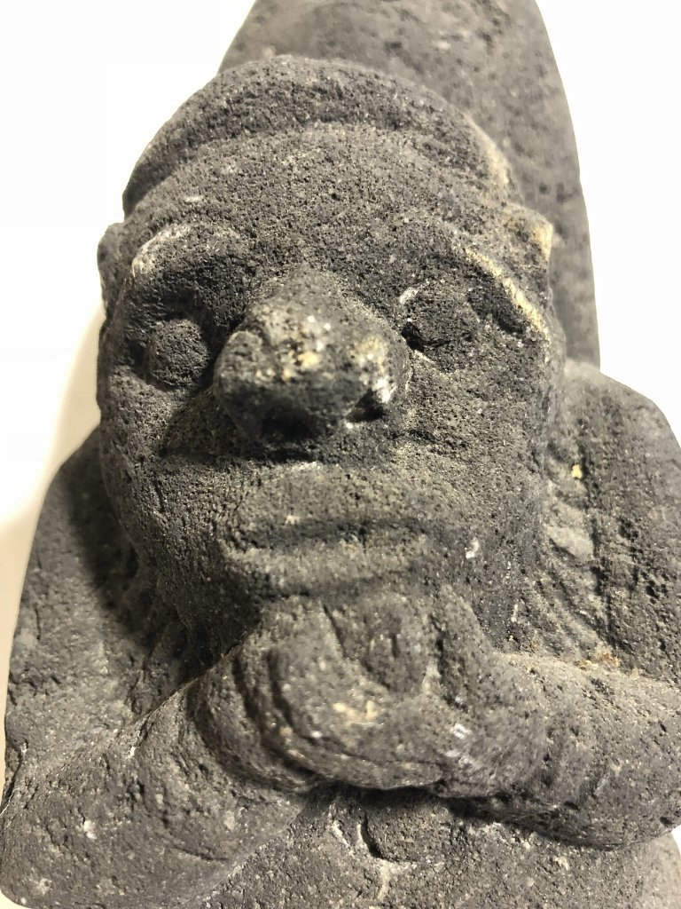 Carved volcanic rock figure, c.1950 - 2
