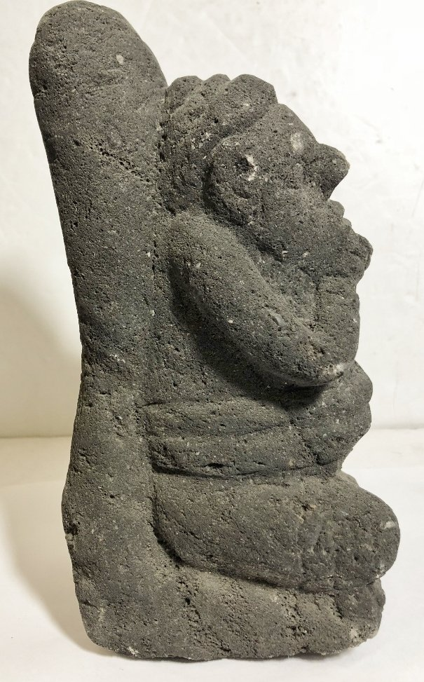 Carved volcanic rock figure, c.1950 - 3