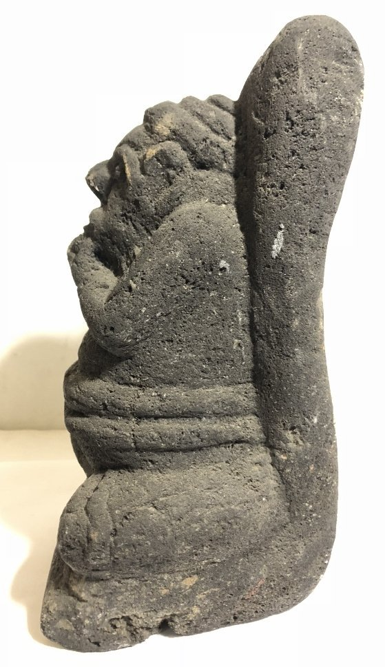 Carved volcanic rock figure, c.1950 - 4