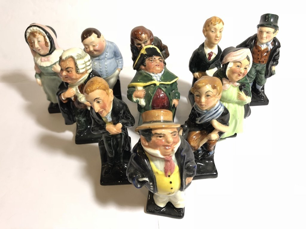 Eleven Royal Doulton figures