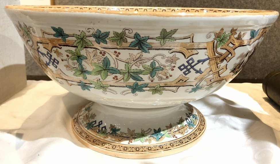 Large punch bowl, c. 1880 - 2