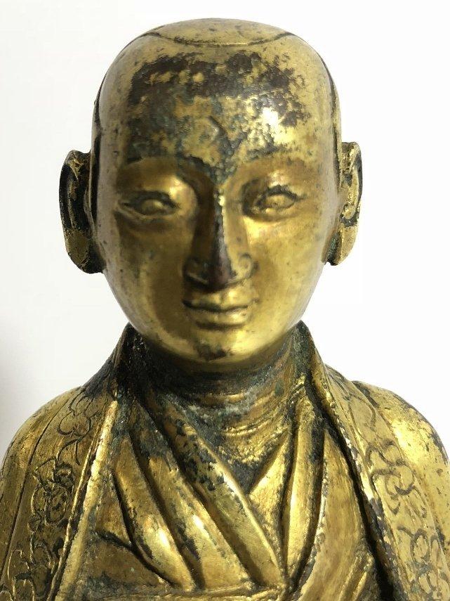 Tibet gilt bronze monk, c.1850 - 2
