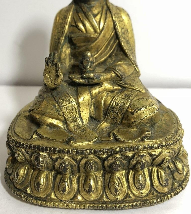 Tibet gilt bronze monk, c.1850 - 3