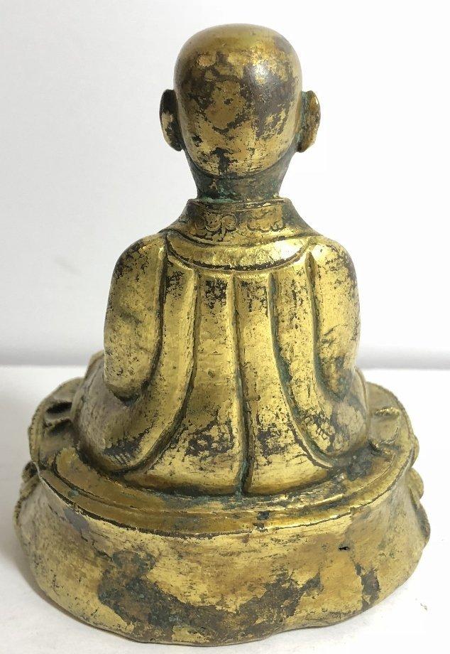 Tibet gilt bronze monk, c.1850 - 6