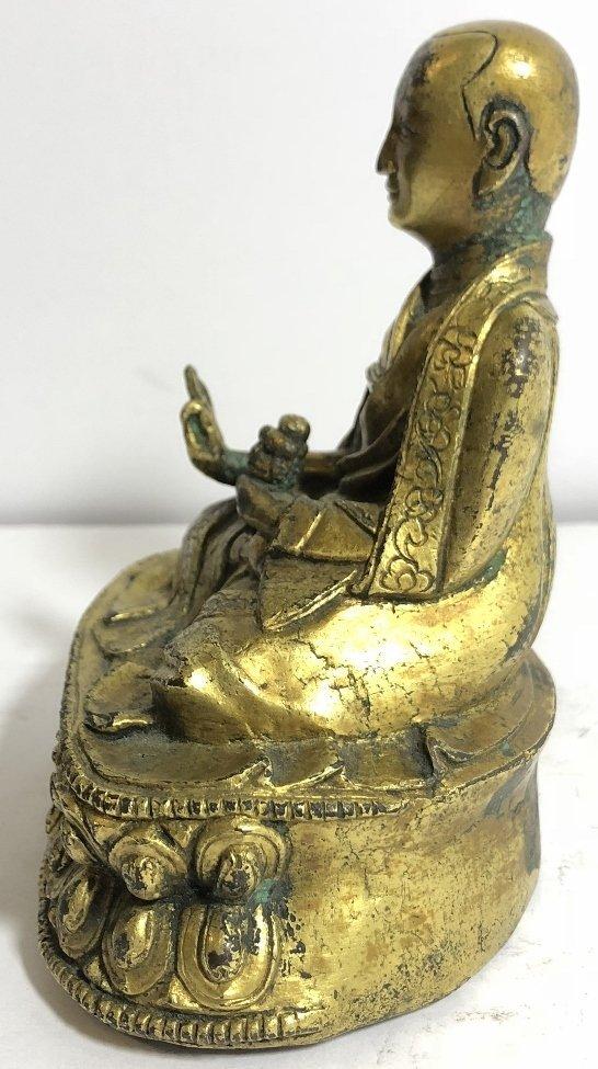 Tibet gilt bronze monk, c.1850 - 7