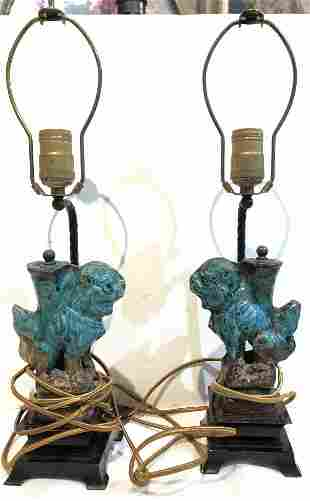 Pair Chinese Ming lamps