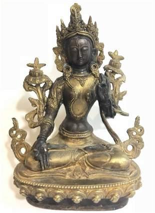 Tibet gilt bronze, White Tara, c.1920