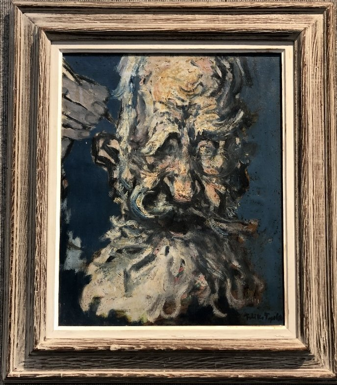 Painting of George Bernard Shaw by Feliks Topolski RA