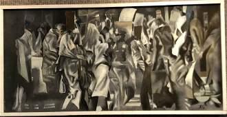 Xavier Gonzalez painting Study in Grey c1970