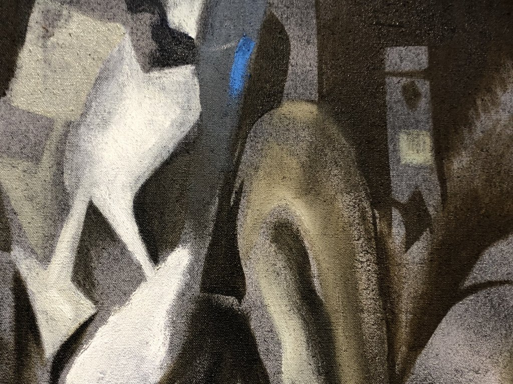 "Xavier Gonzalez painting, ""Study in Grey"", c.1970 - 2"