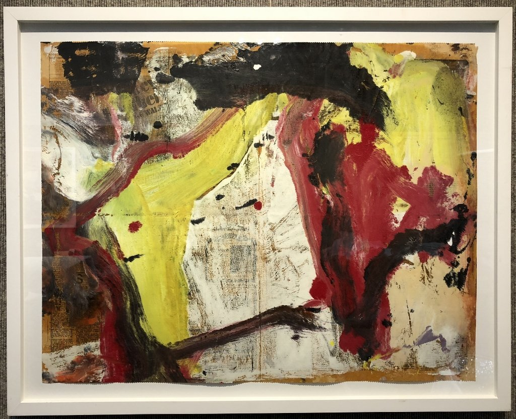 """Untitled I"" painting by Willem de Kooning 29 x 22.5 - 2"