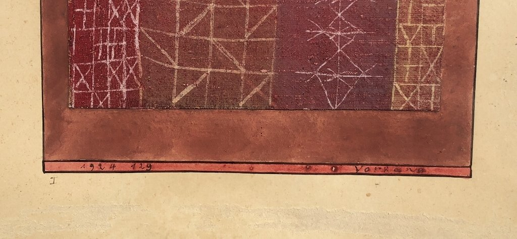 """""""Vorhang"""" (Curtain no.1) painting by Paul Klee, 1924 - 7"""