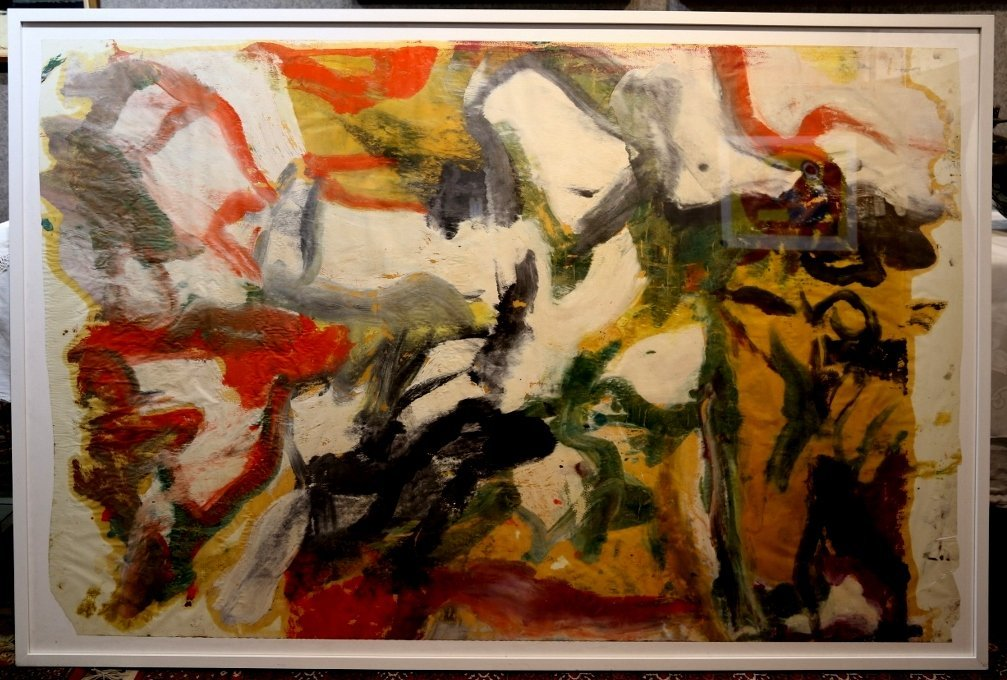 """""""Untitled II"""", painting by Willem de Kooning,65 x 43 - 2"""