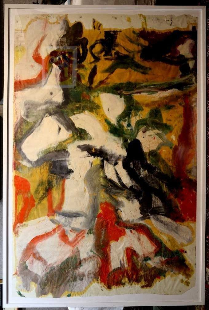 """Untitled II"", painting by Willem de Kooning,65 x 43 - 4"