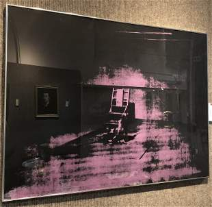 Warhol's Electric chair by Sunday B Morning