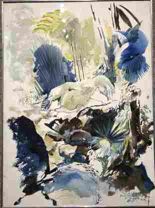 """Wcolor,Xavier Gonzales, """"El Yunque""""(P.Rico)1968"""