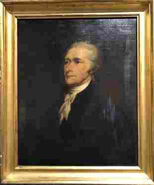 19th century painting of Alexander Hamilton