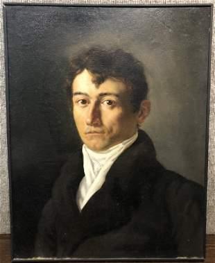 Joseph-Ferdinand Lancrenon, self portrait,c1850