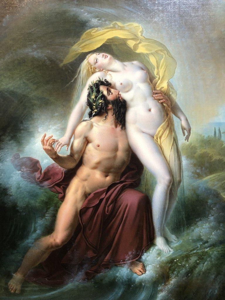 Painting by Joseph F Lancrenon, Poseidon,c.1830 - 2