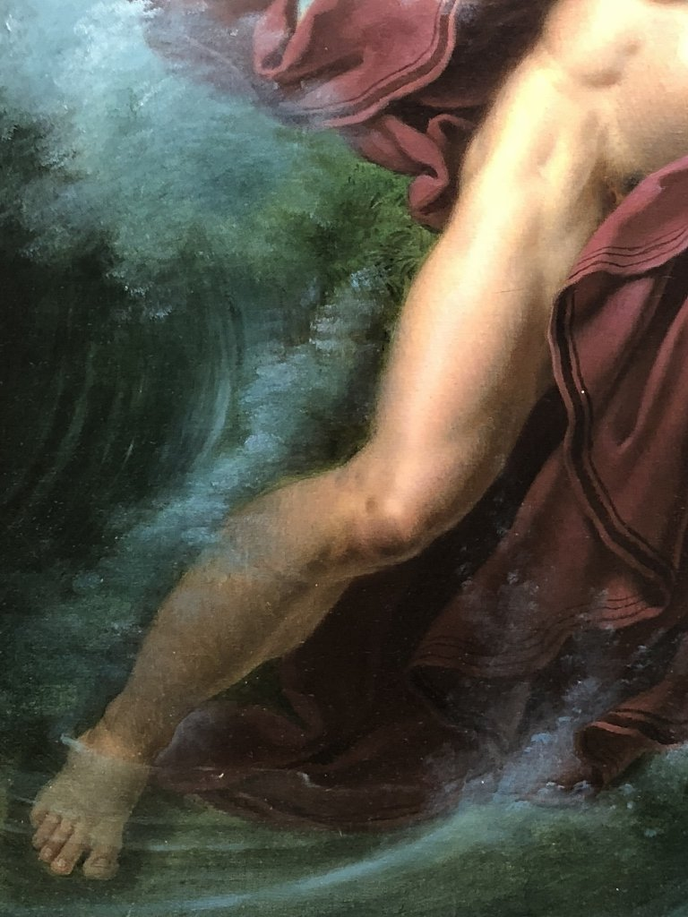 Painting by Joseph F Lancrenon, Poseidon,c.1830 - 6