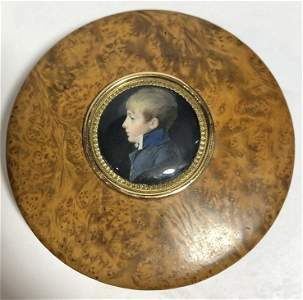 18k gold box Charles G.A.Bourgeois 1807 painting