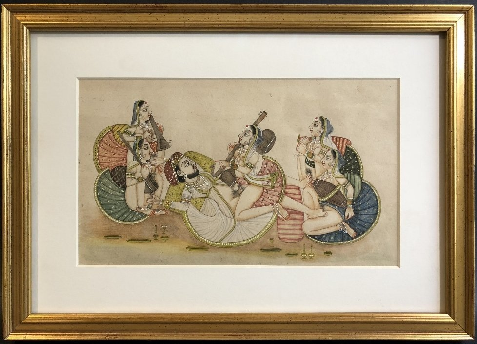 Indian erotica miniature painting