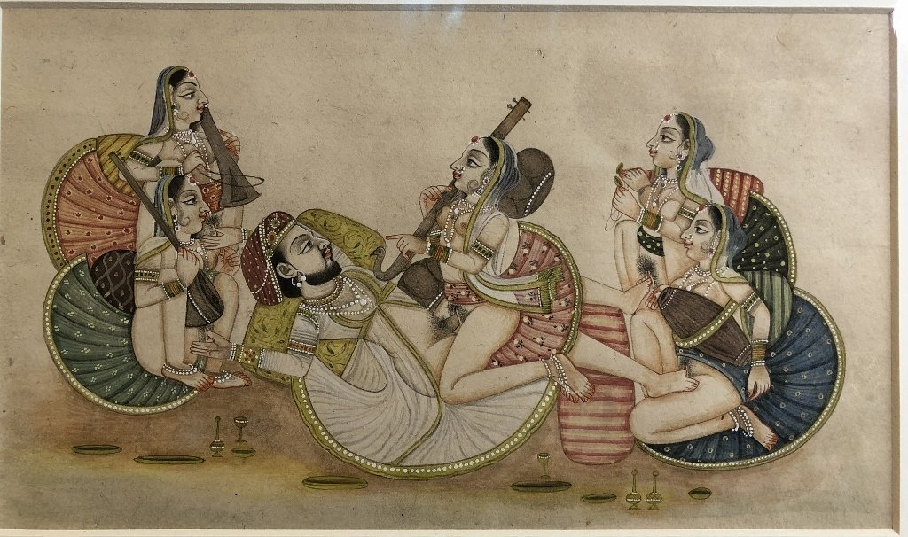 Indian erotica miniature painting - 2