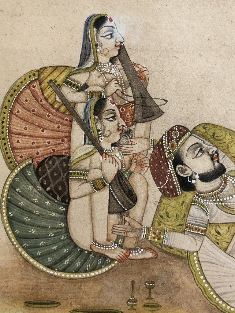 Indian erotica miniature painting - 3