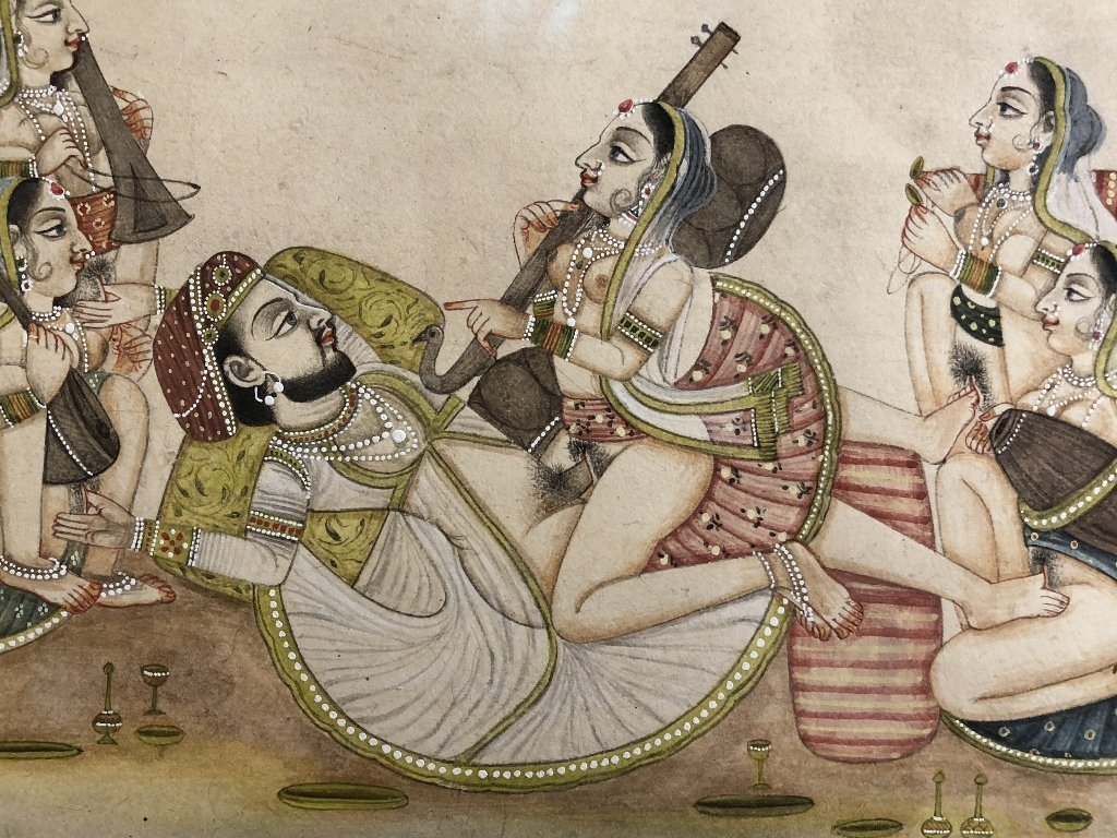 Indian erotica miniature painting - 4