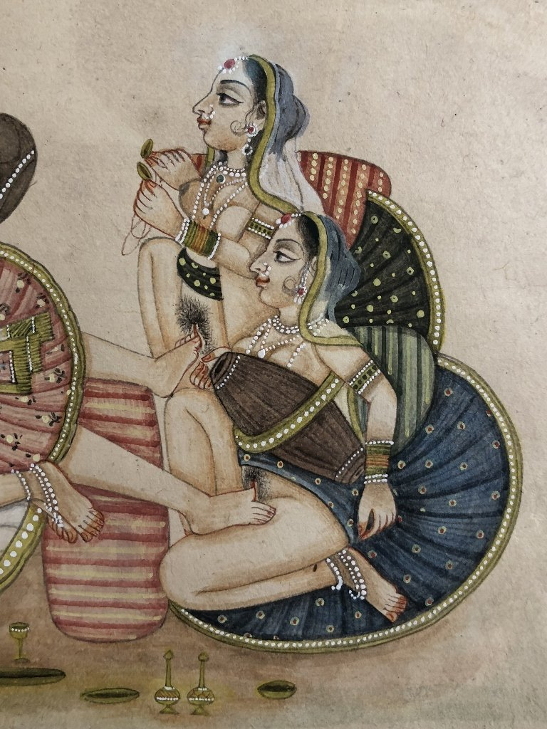 Indian erotica miniature painting - 5