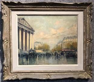 "Painting by Jean Salabet, ""Paris Pantheon"",c.1953"