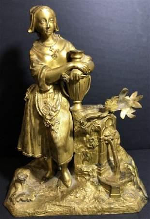 Gilt bronze of a maiden, circa 1850