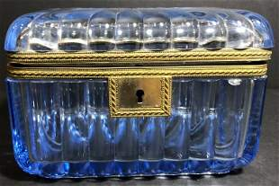 Blue glass box, c.1900